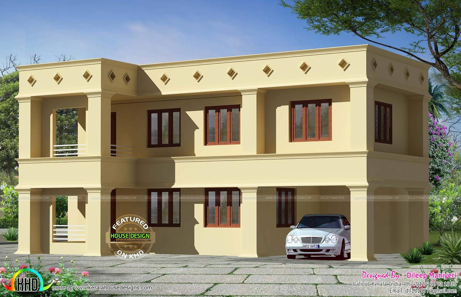 Design Style Arabic Flat Roof House Woody Nody House Plans 122060