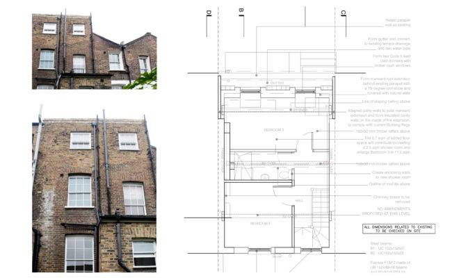 Designed Mansard Roof House Extension Angel Islington Design Plan