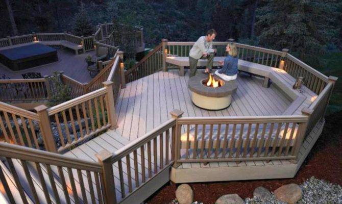 Designer Decks Made Natural Wood Composite