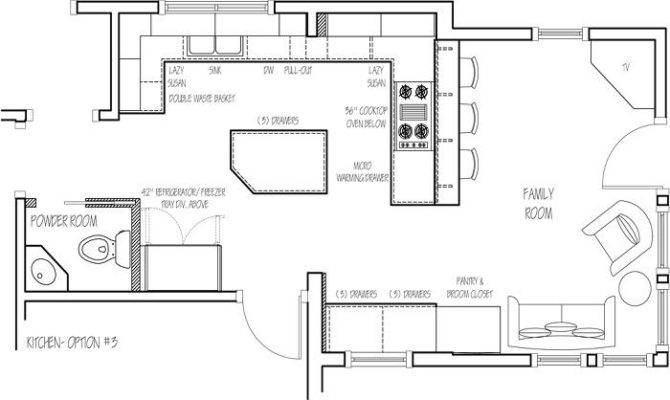 Designing Kitchen Option Floor Plan Stroovi