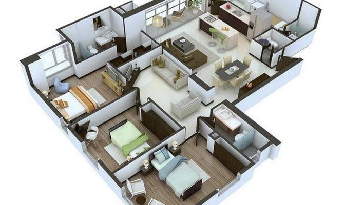 Designs Ideas Apartment One Storey Three