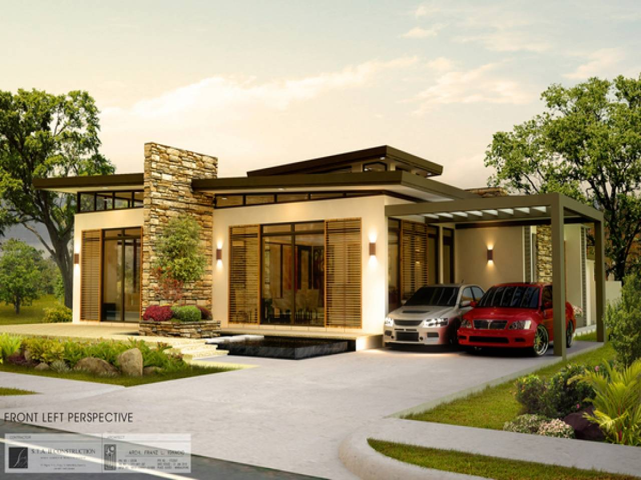 Designs Modern Bungalow House Philippines New Design House Plans 15628