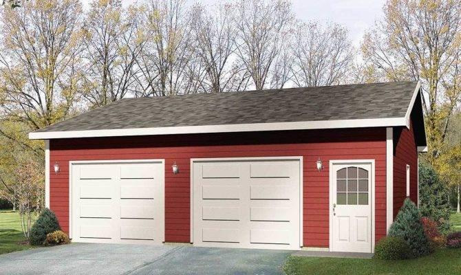 Detached Drive Thru Garage Plan Architectural