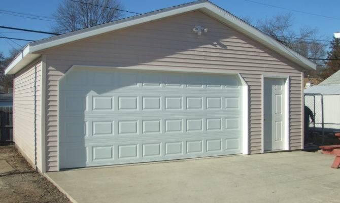 Detached Garage Plans Car Costs White