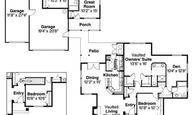 Detached Guest Cottage Law Suite House Plan Hunters