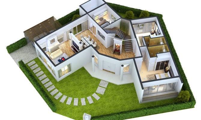 Detailed House Floor Cutaway Model Max Obj Cgtrader