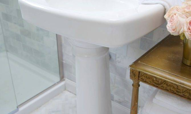 Details Perfect Pedestal Sink French Country Cottage