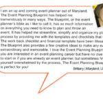 Developed Event Planning Blueprint
