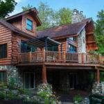 Dickinson Homes Hybrid Log Chalet Style Home Mancelona