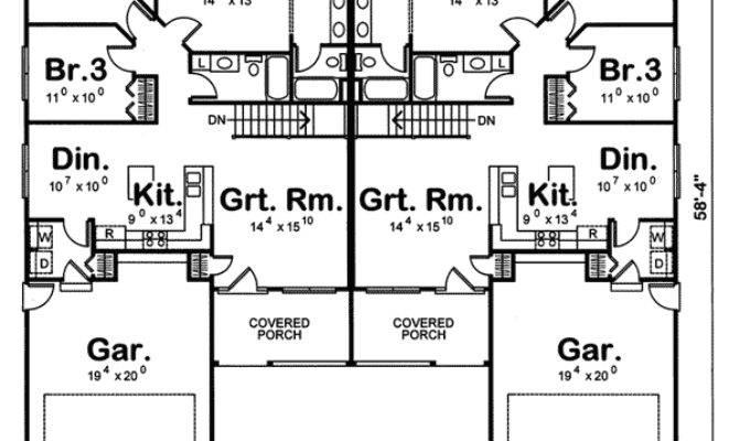 Dickinson Multi Duplex Plan House Plans