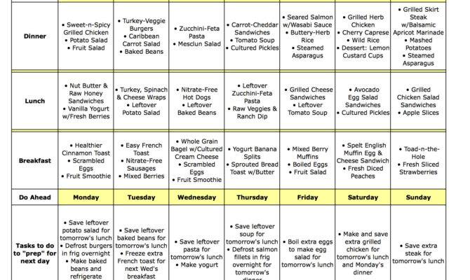 Diet Meal Plans Eating Well Healthy Recipes