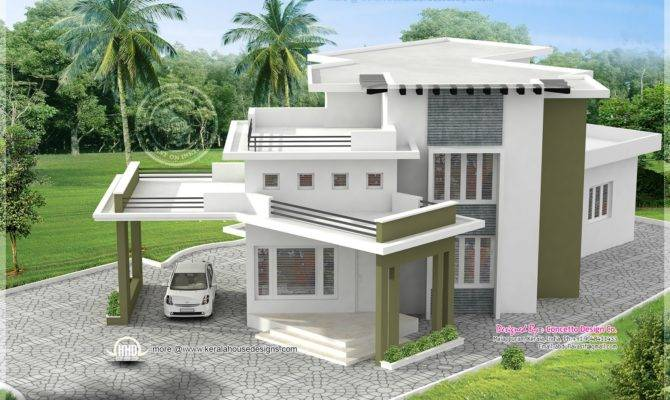 Different House Exteriors Concetto Design Home Kerala Plans