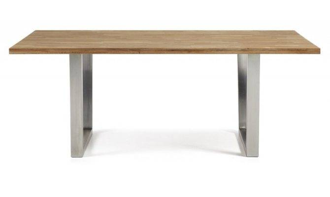 Dining Table Carter Stainless Steel Oak Forma