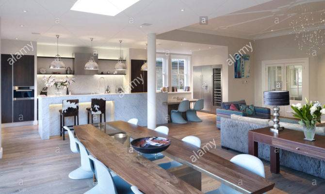 Dining Table Large Open Plan Room Residential House