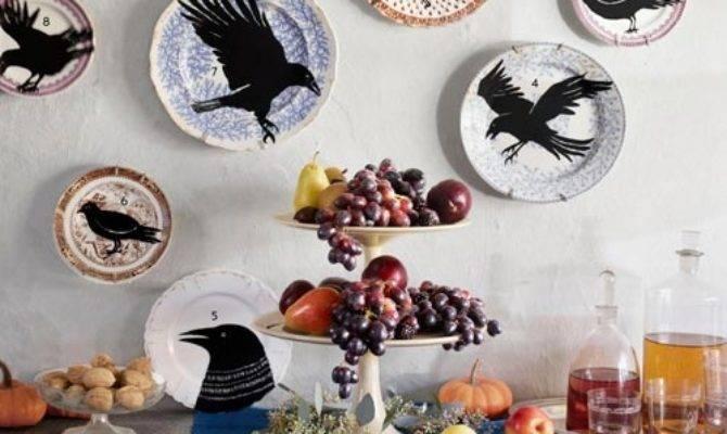 Display Plates Creative Crafty Diy Halloween Crow