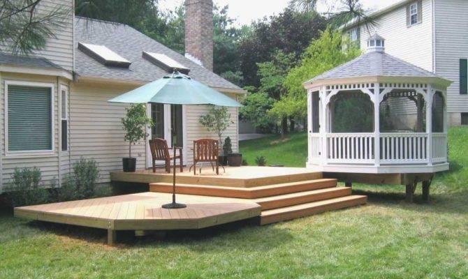 Diy Backyard Deck Ideas Inspirational Decorations Small