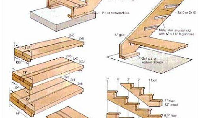 Diy Build Wood Deck Stairs Plans