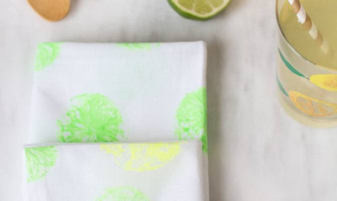 Diy Citrus Print Napkins Blondielocks Life Style