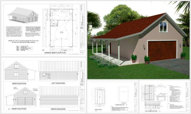 Diy Garage Plans Detailed Drawings