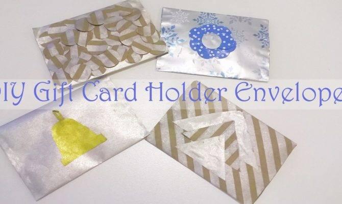 Diy Gift Card Holder Envelopes Made Jam Wrapping Paper