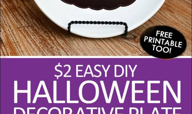 Diy Halloween Decorative Plate Under Create Your Own