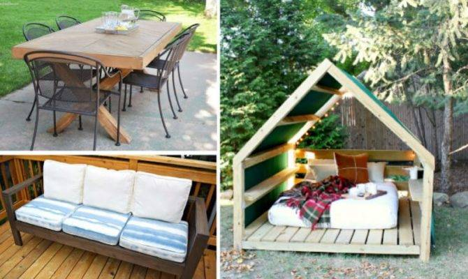 Diy Outdoor Furniture Creative Affordable Ideas