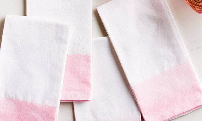 Diy Painted Watercolour Cloth Napkins Canadian Living