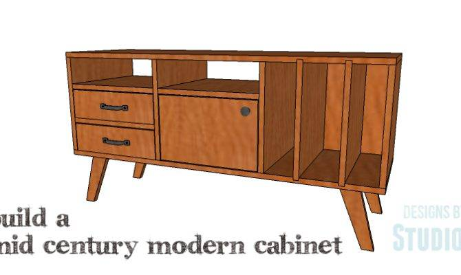 Diy Plans Build Mid Century Modern Cabinet