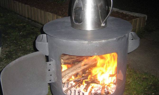 Diy Portable Wood Fired Pizza Oven Patio Heater Home