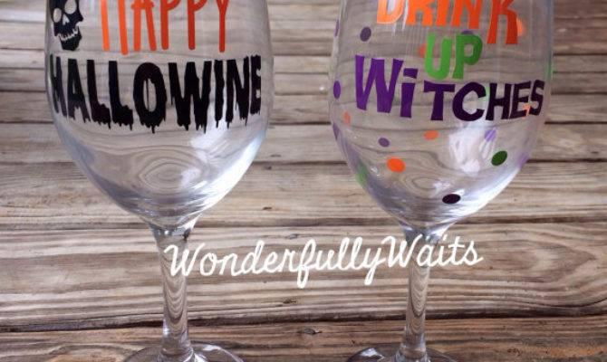 Diy Series Halloween Wine Glass Vinyl Decal