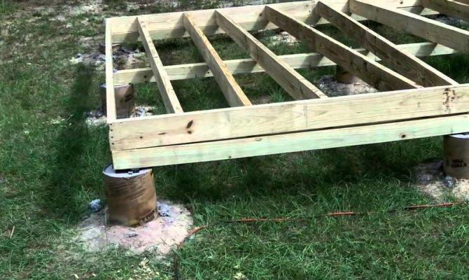 Diy Shed Part Floor Youtube