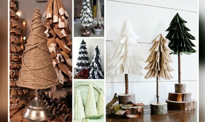 Diy Tabletop Christmas Trees Easy Budget