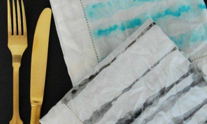 Diy Watercolor Painted Napkins Hometalk