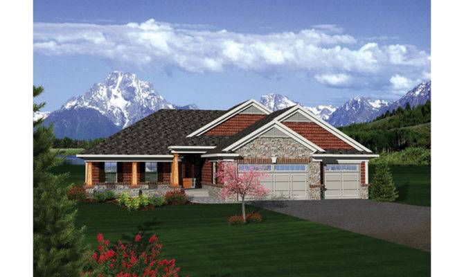 Dobford Craftsman Ranch Home Plan House Plans