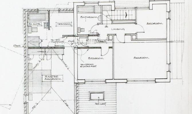 Domestic Extension Hand Drawn Plans