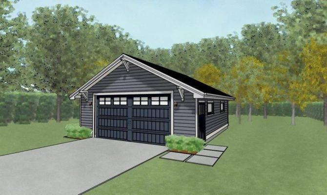 Double Car Garage Architectural Plans Blueprints