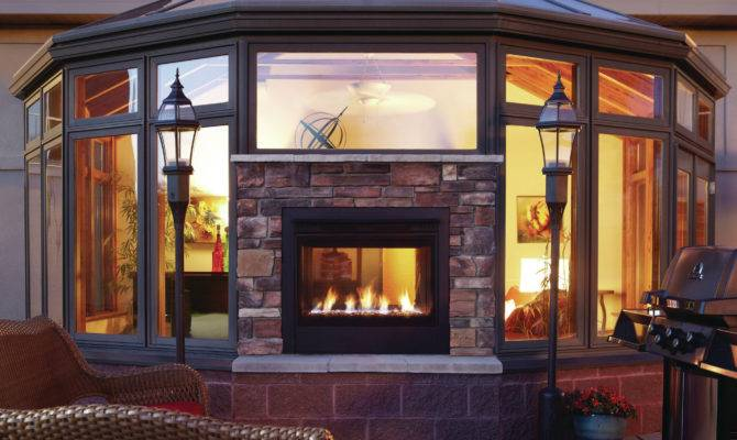 Double Design Heat Glo Twilight Modern Two Sided Gas Fireplace