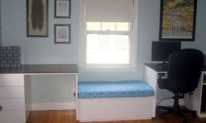 Double Desk Window Seat Filing Space Yourself Home