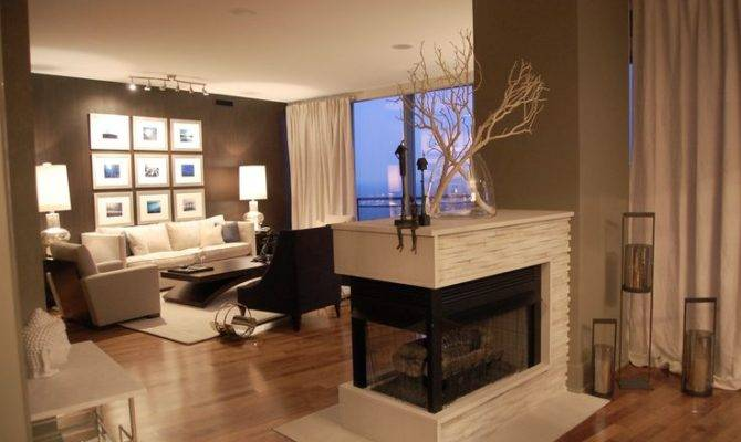 Double Sided Fireplace Dream House Ideas Pinterest