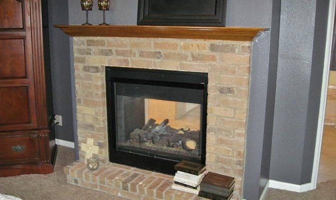 Double Sided Fireplace Inside