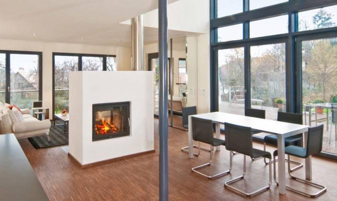 Double Sided Fireplace Loftier Living Pinterest