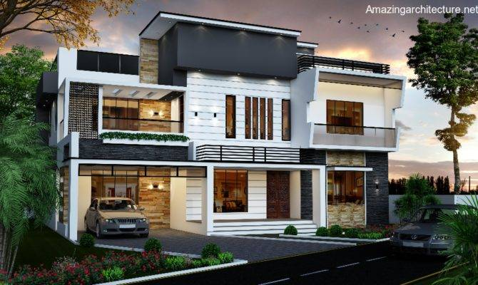 Double Storey Modern Residential House Amazing