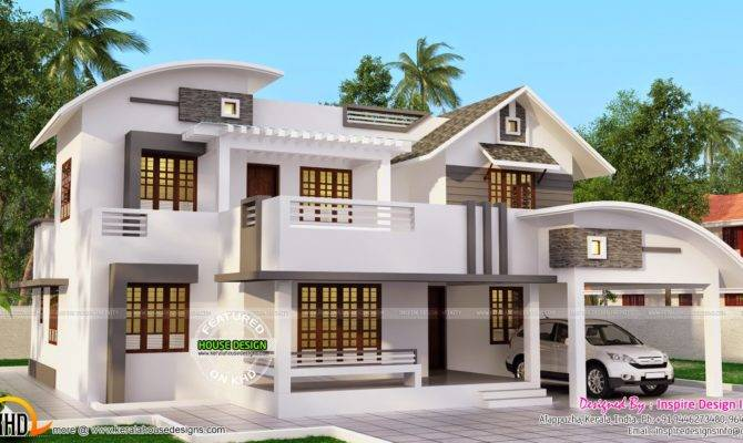 Double Storied Modern Home Kerala Design Floor