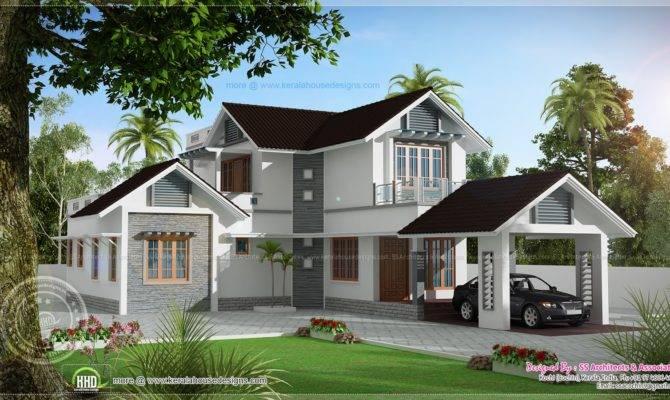 Double Storied Villa Home Kerala Plans