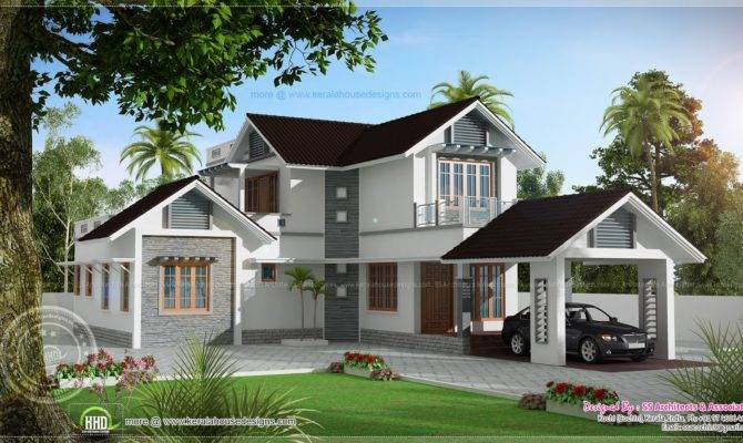 Double Storied Villa Kerala Home Design