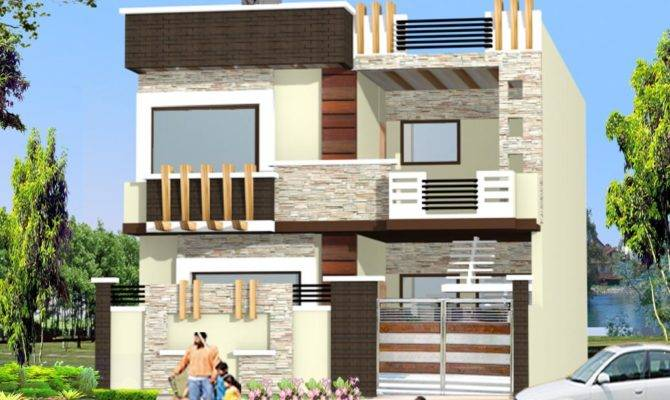 Double Story Home Elevation Design Gharexpert