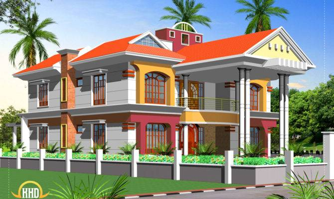Double Story House Elevation Indian Home Decor