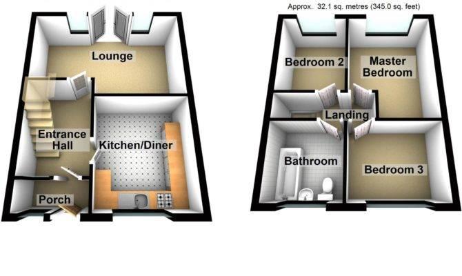 Down House Floor Plan