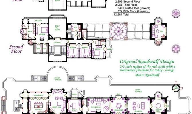 Drachenburg Castillo Piso Plan Planos Casas