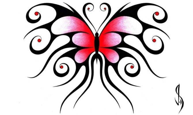 Draw Swirly Symmetrical Butterfly Design